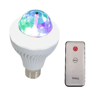 BEC LED E27/230V RGB 3X1W + 15LED-URI SMD ALBE + TELECOMANDA