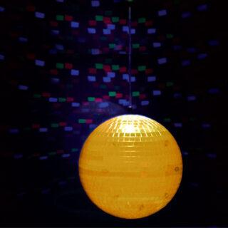 GLOB DISCO PVC ILUMINAT 8 inch/20CM 9-LED-URI