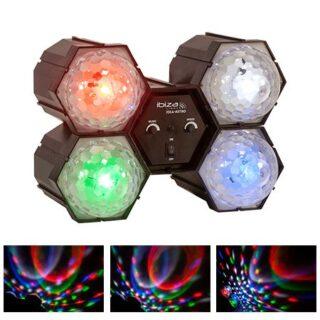 LED RUNNING RGBW LIGHT X4 CU MICROFON