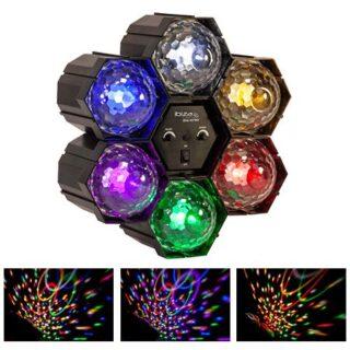 LED RUNNING RGBWYP LIGHT X6 CU MICROFON