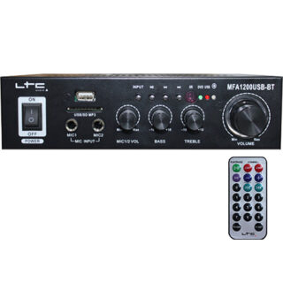 AMPLIFICATOR KARAOKE 2X20W USB/SD/BLUETOOTH NEGRU