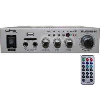 AMPLIFICATOR KARAOKE 2X20W USB/SD/BLUETOOTH ARGINTIU