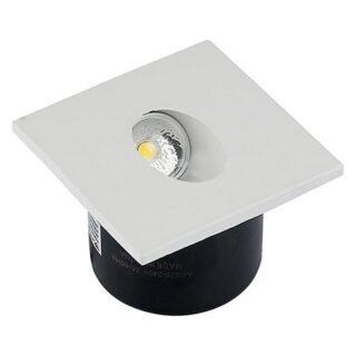 SPOT LED STEPLIGHT 3W 3000K ALB CALD