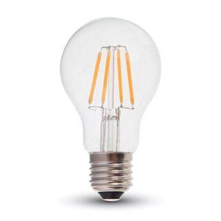 BEC LED A60 E27 6W CU FILAMENT 2700K ALB CALD, CIP SAMSUNG
