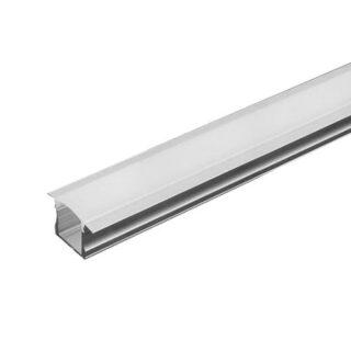 PROFIL ALUMINIU PENTRU BANDA LED 2M 23MM X1 5.5MM MAT