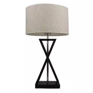 LAMPA NOPTIERA E27 ABAJUR IVORY - ROTUND