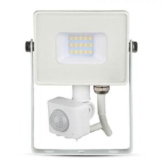 REFLECTOR LED SMD 10W 4000K IP65 CU SENZOR MISCARE - ALB