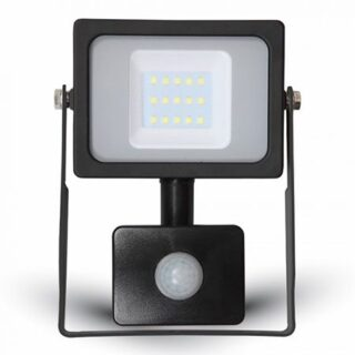 REFLECTOR LED SMD 10W 6400K IP65 CU SENZOR MISCARE - NEGRU