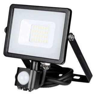 REFLECTOR LED SMD 20W 4000K IP65 CU SENZOR MISCARE NEGRU