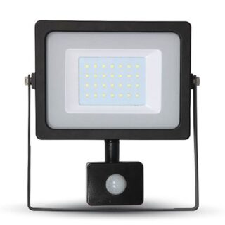 REFLECTOR LED SMD 20W 6400K IP65 CU SENZOR MISCARE NEGRU