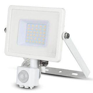 REFLECTOR LED SMD 30W 4000K IP44 CU SENZOR MISCARE - ALB