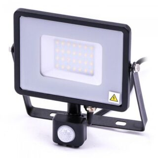 REFLECTOR LED SMD 30W 4000K IP44 CU SENZOR MISCARE - NEGRU/GRI
