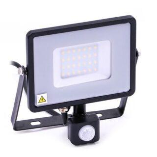 REFLECTOR LED SMD 30W 6400K IP44 CU SENZOR MISCARE - NEGRU/GRI
