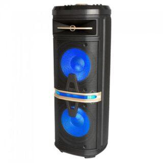 BOXA PORTABILA 2X10 inch/25CM ILUMINATA 120W RMS USB/SD/BT/FM/AUX