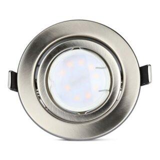 SET 3 SPOTURI LED GU10 5W 6400K ALB RECE - CROM
