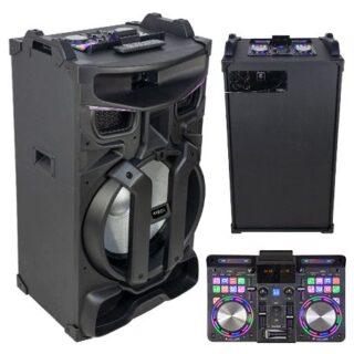 BOXA PORTABILA 18 inch/46CM ILUMINATA 450W MIXER/USB/SD/BT/FM/AUX
