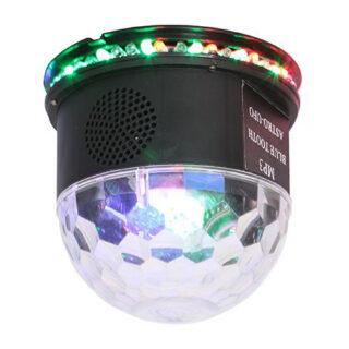 EFECT UFO ASTRO LED RGB 3W CU BT SI DIFUZOR INCORPORAT- NEGRU