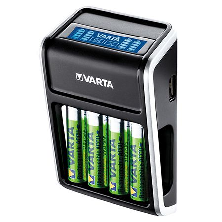 INCARCATOR LCD 4XAA 2100MAH VARTA