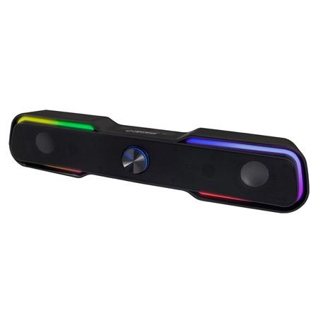 BOXE / SOUNDBAR 2.0 USB LED RAINBOW APALA ESP