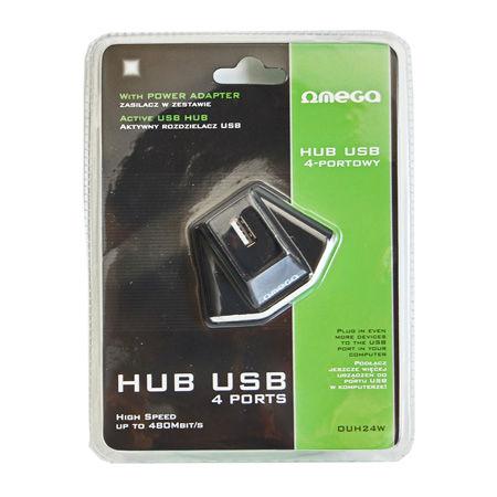 HUB USB 2.0 OMEGA 4 PORTURI POWER ADAPTER