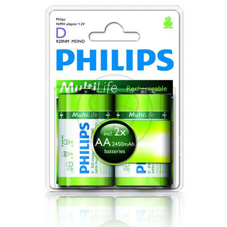 ADAPTOR PHILIPS R6-R20 NI-MH 2450MAH BL 2 BUC
