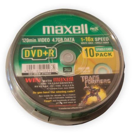 DVD+R 4.7GB MAXELL CAKE 10BUC