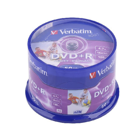 DVD+R VERBATIM 4,7 GB 16X PRINT. AZO FULL CAK