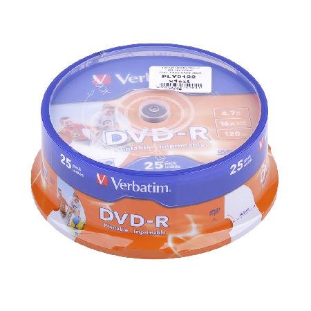 DVD-R VERBATIM 4,7 GB 16X PRINTABLE 25 BUC