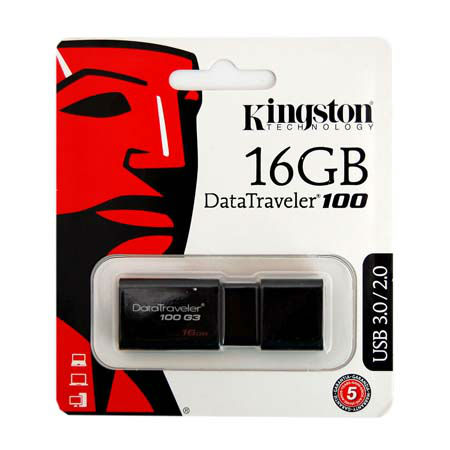 FLASH DRIVE 16GB DT100G3 USB 3.0 KINGSTON