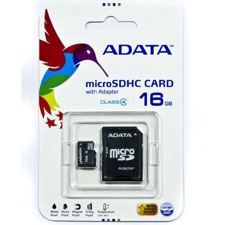MICRO SD CARD 16GB CLASS 4 CU ADAPTOR ADATA
