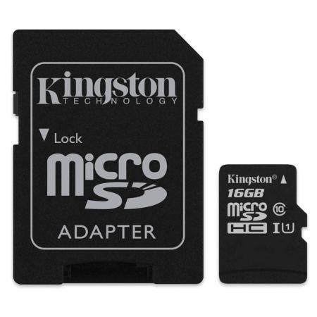 MICRO SD CARD 16GB CLASS 4  KINGSTON